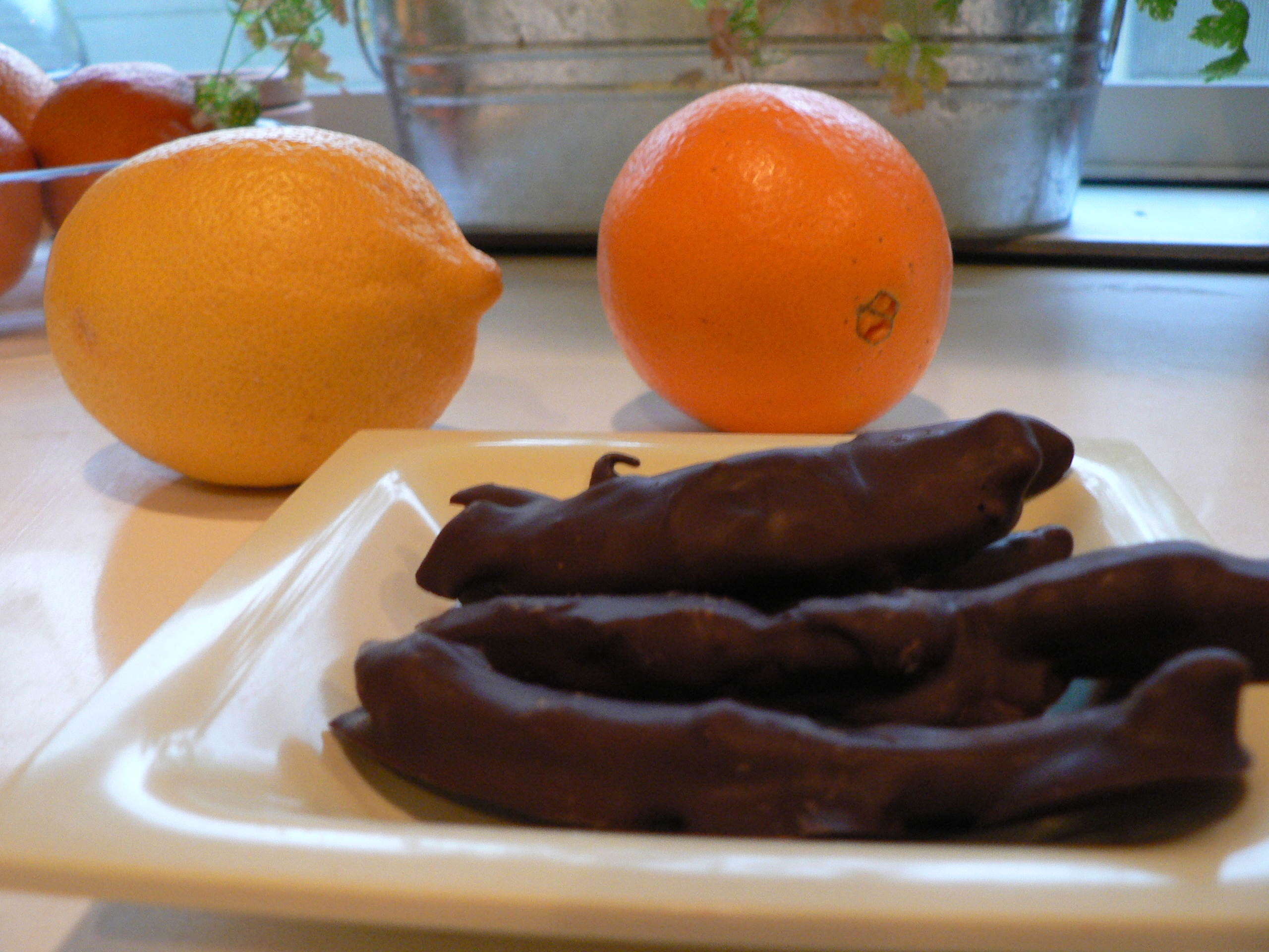 Chocolate Covered Candied Orange and Lemon Peels | The Not So Skinny ...